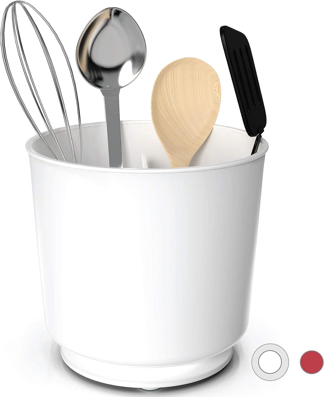 mit CoolGrip-Griff und Flexed-Silikon rot Cooler Kitchen Suppenkelle aus Silikon und Edelstahl 113 ml