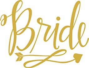 (Gold) Bride Heat Transfer Iron on Stencils for Wedding