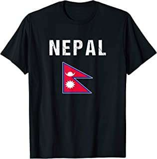 Nepal T-shirt Nepalese Flag Nepali For Men/Women/Youth/Kids