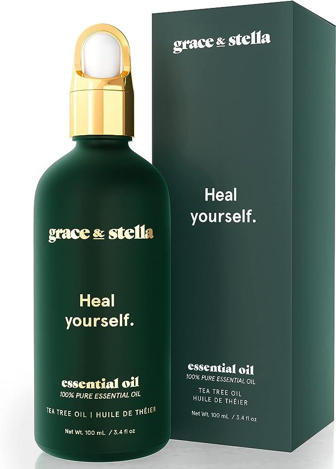 1054 opinioni per Grace & Stella olio di melaleuca puro al 100% per una pelle chiara- Vegano-