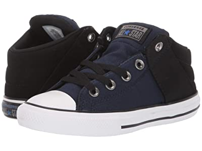 Converse Kids Chuck Taylor(r) All Star(r) Axel Mid (Little Kid/Big Kid) (Obsidian/Black/White) Boys Shoes