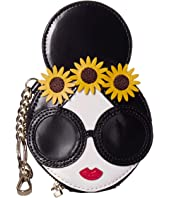 Alice + Olivia - Evy Stace Face w/ Coin Pouch Key Charm