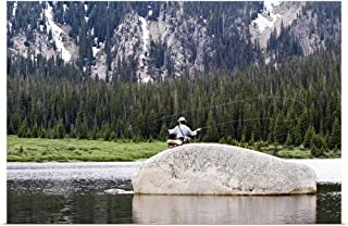 Great Big Canvas Poster Print Entitled Fly Fisherman 36