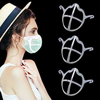 Upgraded 3D Mask Bracket Large Inner Support Frame for Exercise, More Space for Comfortable Breathing and Lipstick Protect...