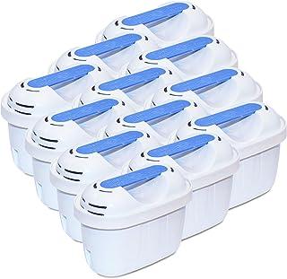 Filtre Carafe filtrante FL-402E - Cartouche Compatible pour Brita® Maxtra+® - (Lot de 12)