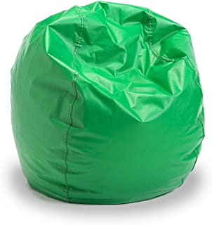 Bigger and Better! Child Size Bean Bag Chair (Green), 100% American Made
