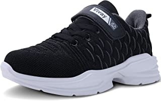 Vivay Kids Tennis Shoes Lightweight Boys Sneakers Girls Breathable Athletic Running Shoes for Little Kid and Big Kid
