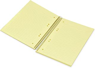 FIS Spiral Hard Cover Color Notebook, Single Ruled, 100 Sheets, Cream Color Paper, Micro Perforation, 6 Punch Holes and Sa...