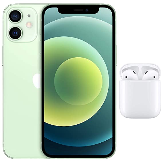 New Apple iPhone 12 Mini (64GB) - Green with AirPods with Charging Case