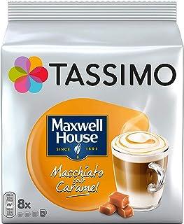 TASSIMO Maxwell House - Paquete de 10 cápsulas de vainas de café y caramelo de Macchiato, 80 bebidas
