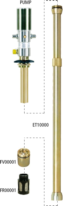favorite Lubeworks Oil Transfer Pump Extension Shaft inch 30