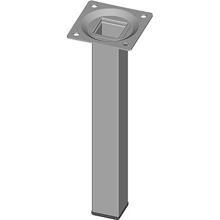 Element System 18133-00294 Pie para muebles, Aluminio Blanco, 20 cm