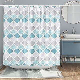 DESIHOM Geometric Shower Curtain Modern Shower Curtain Priya Shower Curtain Morocco Shower Curtain Biscaynebay Shower Curt...