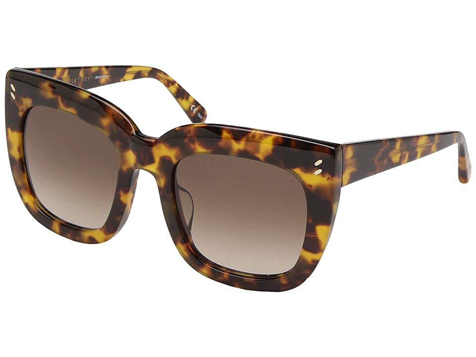 Stella McCartney SC0033SA (Avana/Avana/Brown) Fashion Sunglasses, Black