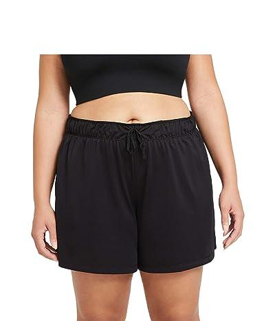 Nike Dry Attack Shorts (Sizes 1X-3X) (Black/Black/White) Women