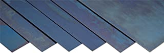 Precision Brand Spring Steel 1095 Shim Sheet Assortment, Blue Tempered, Polished Finish, AMS 5122, SAE 1095, AISI 1095, Blue, 0.005