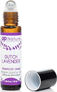 Lavender Essential Oil Roll On - For Calming, Stress Relief, Sleep & Relaxation - Easy Application Lavender Oil Topical Roller - High Quality, Leak-Proof Rollerball - Travel safe - No Diffuser Needed!