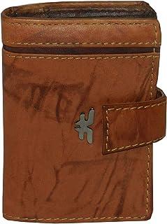 Laveri Genuine Leather Credit Card Holder Wallet Bill and Card Holder Unisex Wallet, Leather - Multi Color