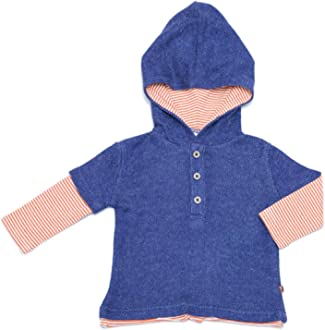 Fore Axel and Hudson Boy ShirtL//S Navy Robot Popover