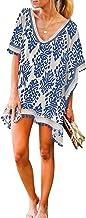 FIYOTE - Bikini para mujer, cover-ups, vestido de playa, poncho de punto de crochet, vestido de ganchillo, bañador, vestido de verano