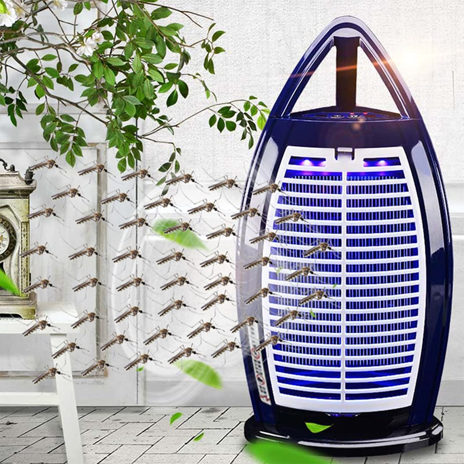 Fly Killer,Effect Lamp,Maternal Infant Mosquito Killer Mosquito Control,Insect Killer Ideal for Home Commercial Use Free Standing Or Wall Hanging Alternative to A Fly Swatter Black