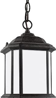 Sea Gull Lighting 60529EN3-746 Kent One-Light Outdoor Semi-Flush Convertible Pendant, Oxford Bronze