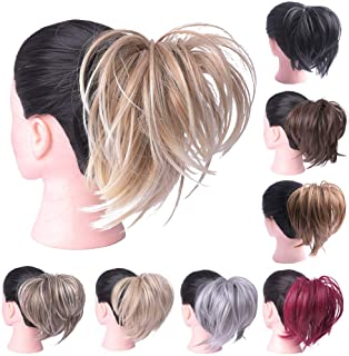 Oubeca Tousled Synthetic Hairpiece Scrunchies Straight Elastic Updo Scrunchy Bun For Women (10H27)