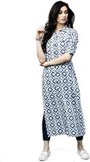 AnjuShree Choice Women's Cotton Straight Kurta