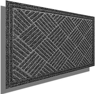 """Amagabeli Large Outdoor Door Mats Rubber Shoes Scraper 36"""" x 24"""" for Front Door Entrance Outside Doormat Patio Rug Dirt De..."""