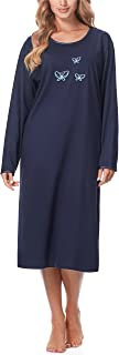 Merry Style Chemise de Nuit Lingerie Robe Vêtement d'Intérieur Manches Longues Femme 91LW1