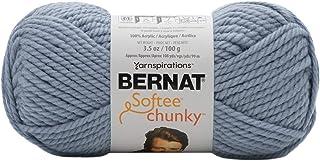 Bernat Gray Blue Yarn Softee Chunky