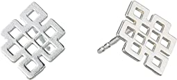 Endless Knot Post Earrings - Precious Metal