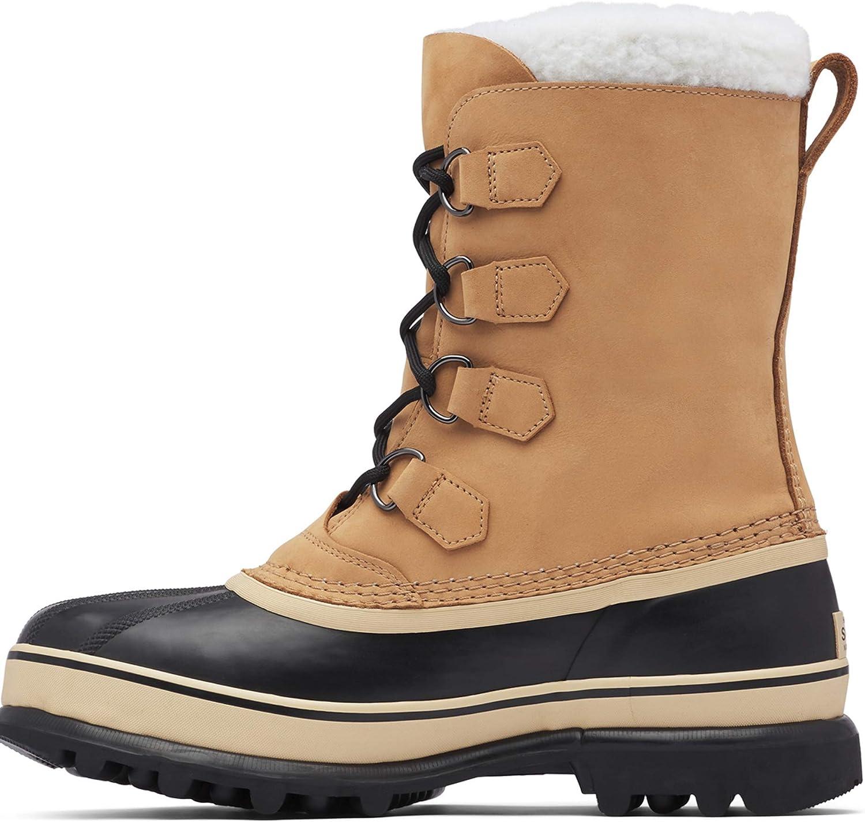 El Paso Mall SOREL Men's Caribou Boot — Leather Buff S 5 popular Waterproof