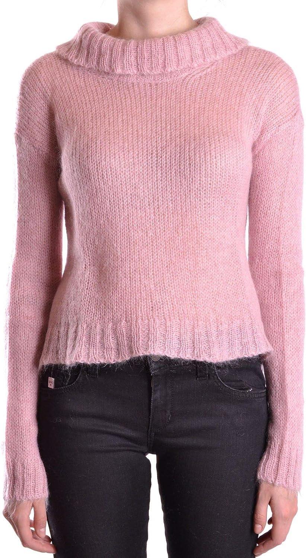 Dondup Women's MCBI18265 Pink Leather Sweater