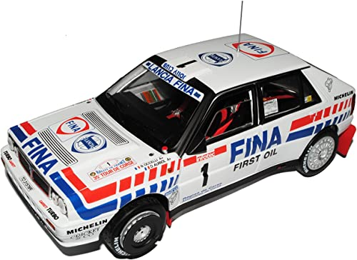 Sun Star Lancia Delta InteGröße Rally Weißs Auriol 2. Rally Tour de Corse Frankreich 1991 1 18 Modell Auto mit individiuellem Wunschkennzeichen