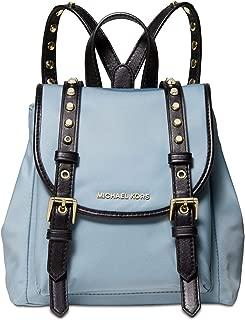 blue nylon backpack
