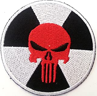 Iron on Patch Bigpatch #Mix Patches Punisher white 27 cm Applique embroidery /Écusson brod/é Costume Cadeau- Give Away BIG
