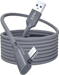 MDTBB كابل توصيل بطول 16 أقدام لكابل أوكولوس كويست 2 للشحن السريع USB3.2 كابل توصيل بيانات عالي السرعة