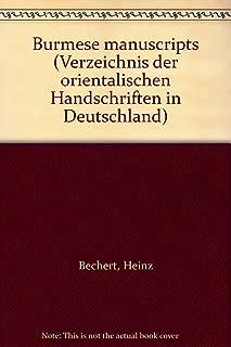 Burmese manuscripts (Verzeichnis der orientalischen Handschriften in Deutschland)
