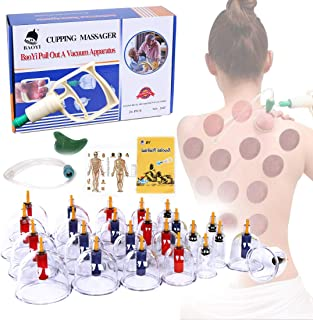 Cupping Therapy Sets, DEFUNX Vacuum Suction 24 Cups Sets for Cellulite Cupping Massage,Chinese Cupping Therapy Pump