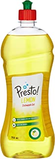 Amazon Brand - Presto! Dish Wash Gel - 750 ml (Lemon)