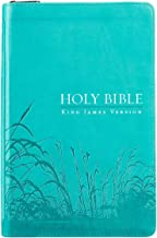Holy Bible: KJV Standard Size Thumb Index Edition: Zippered Turquoise (King James Version Bible)