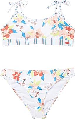 Friendly Flower Bralette Set Swimsuit (Big Kids)