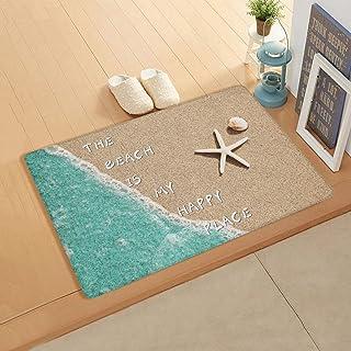 InvisibleWings Doormat Indoor Floor Mat Soft Rug Summer The Beach is My Happy Place Kitchen/Bathroom/Bedroom/Front Door Ma...