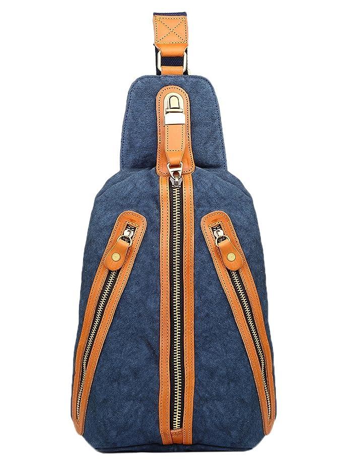 ミニチュア進行中重力Genda 2Archer(JP) キャンバス ボディバッグ ワン ショルダーバッグ 斜め掛け 帆布 かばん ipad カジュアル メンズ 3色
