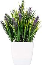 نباتات مزروعة - نباتات صناعية صغيرة مقاس 22.86 سم لديكور المكتب المنزلي - نباتات صناعية موضوعة في أصيص تستخدم لتزيين سطح ا...