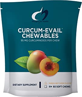 Designs for Health Curcum-Evail - Curcumin Chewables in Mango-Nectarine Flavor (60 Chews)