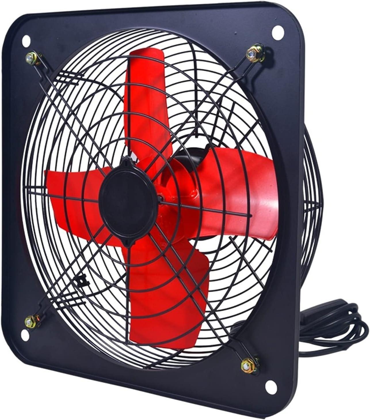Potente potente extractor de ventilación industrial extractor de metal axial Aficionado axial con cubierta neta de doble cara Ventilador de ventilador de aire comercial para dormitorio de cocina