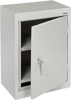 Sandusky Lee WA11181226-05 Dove Gray Steel Wall Cabinet, Single Door, 1 Adjustable Shelf, 26