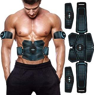 EMS 腹筋ベルト ウエストベルト Vkaiy 筋トレ 腹筋トレーニング 腹筋パッド 腕筋 多部位 6モード 10レベル強度 USB充電 男女兼用 日本語説明書付属